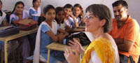 Questions and Answer with School Girls, Rajasthan, India